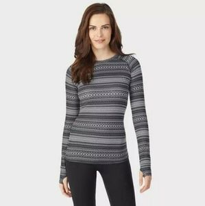 Cuddl Duds active long sleeve crew top